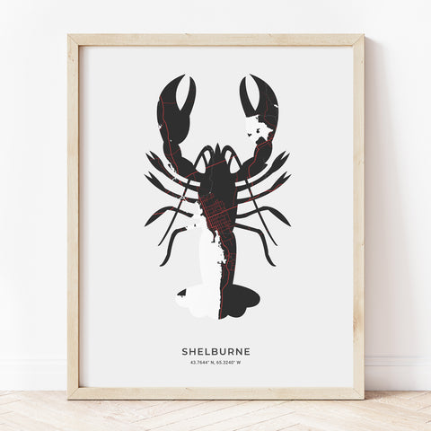 Shelburne Lobster Print