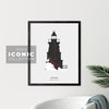 Souris Lighthouse Print