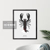 Souris Lobster Print