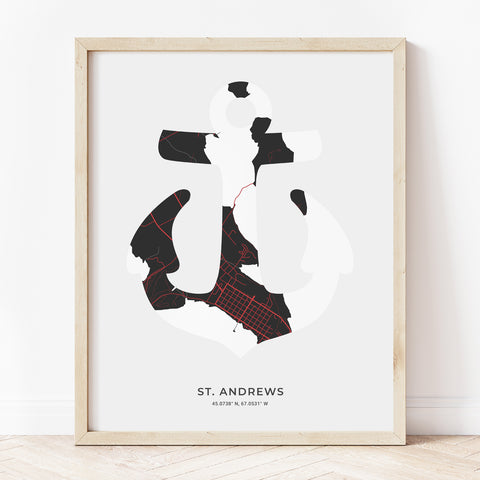 Saint Andrews Anchor Print