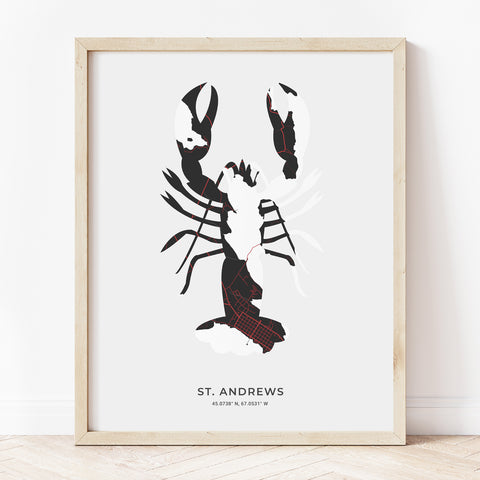 Saint Andrews Lobster Print