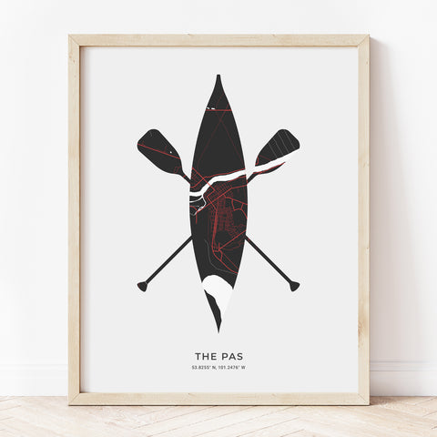 The Pas Canoe Print