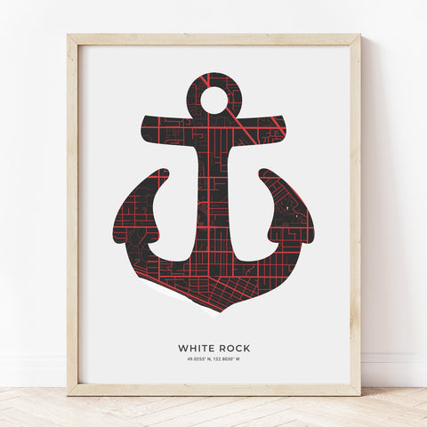 White Rock Anchor Print