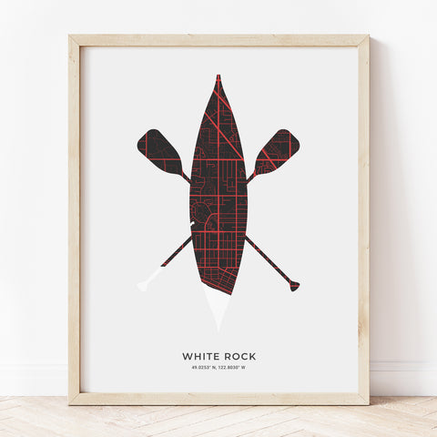 White Rock Canoe Print