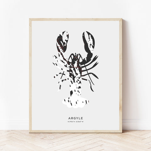 Argyle Lobster Print