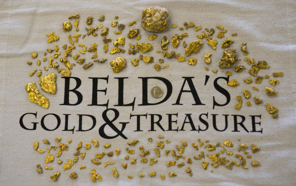 Belda's gold found with metal detectors, Minelab, White's, Garrett, in Oregon, Washington, California, Nevada. GPX-GPZ, VLF PI metal detectors.