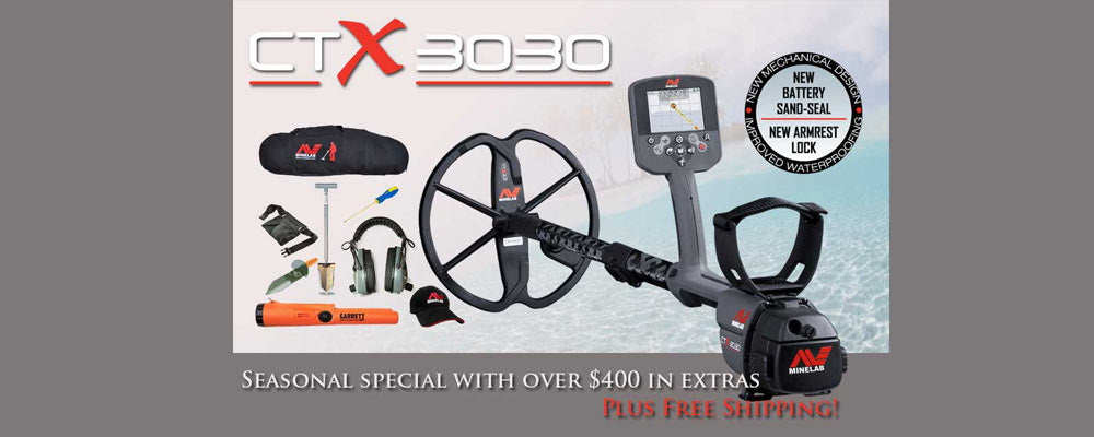 Minelab CTX 3030 waterproof metal detector treasure hunting package