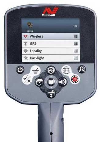 Minelab CTX 3030 LCD screen