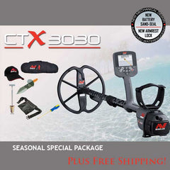 Minelab CTX 3030 w/ exclusive bonus treasure hunting package