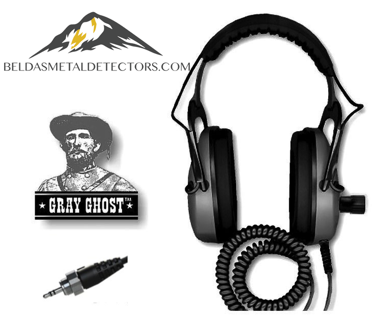 waterproof headphones for Equinox series | DetectorPro Gray Ghost amphibian
