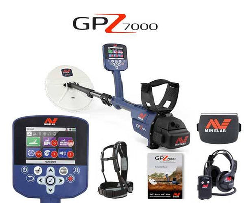 Minelab GPZ 7000 gold detector package