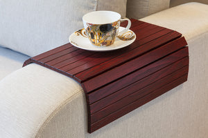sofa tray table wine red