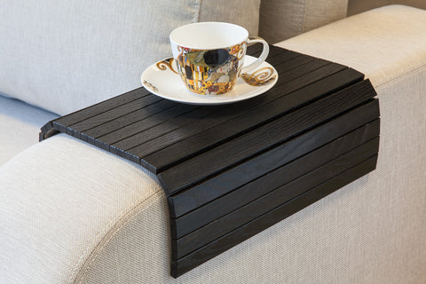 sofa tray table black