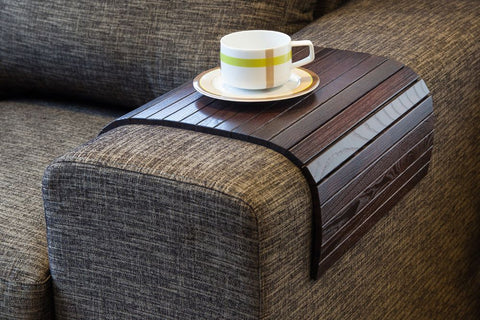 sofa tray table brown