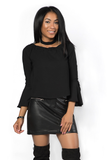 I Love It Bell Sleeve Blouse, Tops - Armed & Mirrored