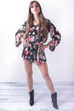 Meet Me At Midnight Black Long Sleeve Romper, Rompers + Jumpsuits - Armed & Mirrored