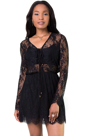 Sweet Nothings Black Lace Dress