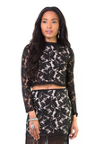 Say My Name Lace Crop Top, Tops - Armed & Mirrored