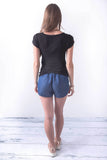 Take a Break Black Short Sleeve T-Shirt, Tops - Armed & Mirrored