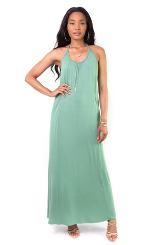 Reset Green Backless Maxi Dress