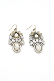 Crown Jewel Clear Crystal Drop Earrings, Earrings - Armed & Mirrored