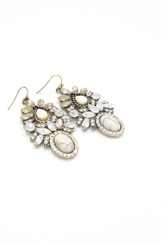 Crown Jewel Drop Earrings