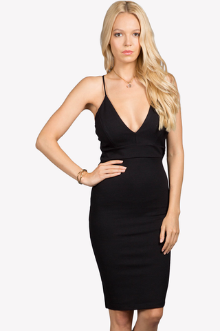 New Heights Plunging Dress