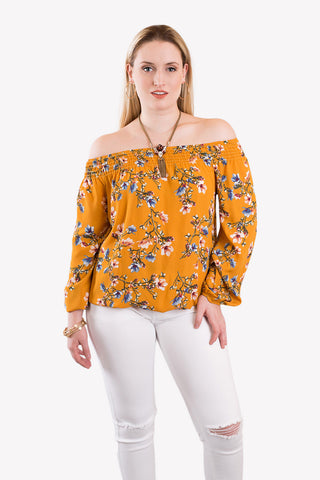 Easy As Sunday Morning Off Shoulder Blouse