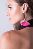 Mantra Pink Fringe Tassel Earrings, Earrings - Armed & Mirrored