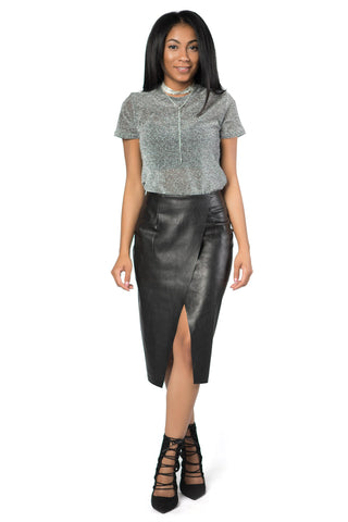 Belle Faux Leather Skirt