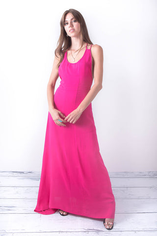 Better Now Hot Pink Casual Maxi Dress