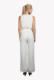 Ivory Coast White Deep Plunge Jumpsuit, Rompers + Jumpsuits - Armed & Mirrored