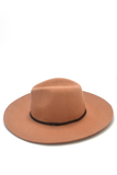 New Frontier Brown Felt Hat, Hats - Armed & Mirrored