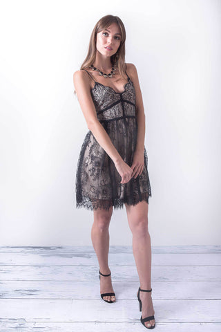 Ever Present Lace Mini Dress