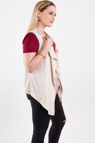 Fall For Nothing Sleeveless Vest