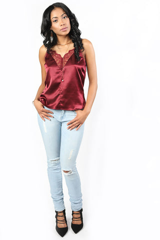 Currently Unavailable Satin Cami Top
