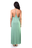 Reset Green Backless Maxi Dress, dress - Armed & Mirrored