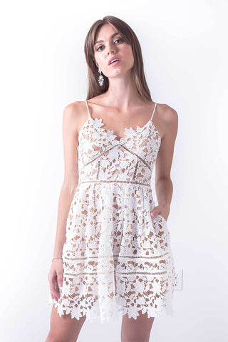Feeling Romantic White Spaghetti Strap Dress