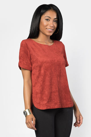 True Love Vegan Suede Top