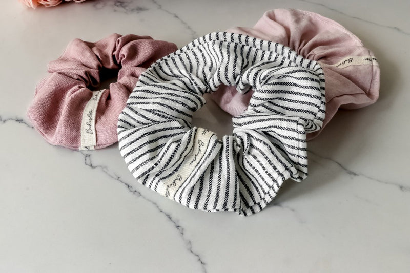 Bakerlita Pinstripe Farmhouse Scrunchie