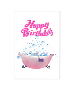 Happy Birthday BathBomb Card