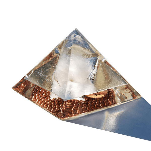 Lite the Light Orgone Pyramid Medium ~ Brazilian Quartz