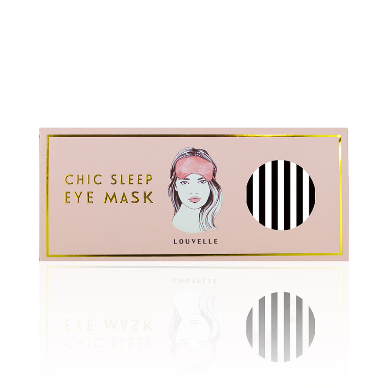 LOUVELLE Chloe Eye Mask Monochrome Stripe