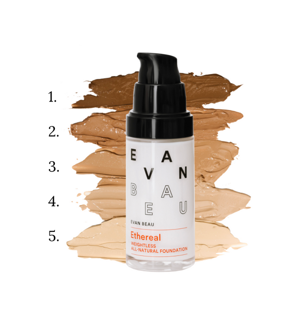 EVAN BEAU ETHEREAL ALL NATURAL FOUNDATION ~ 1.0