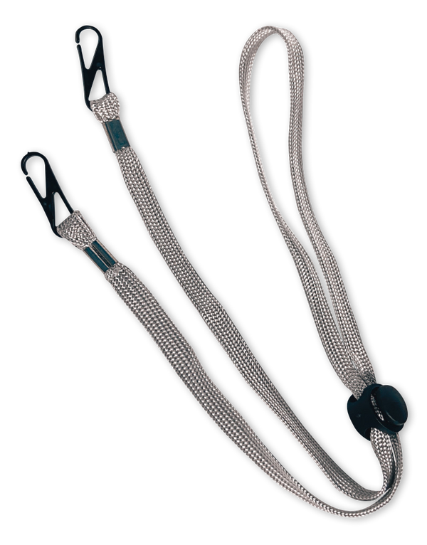 Happy Adjustable Lanyard Grey