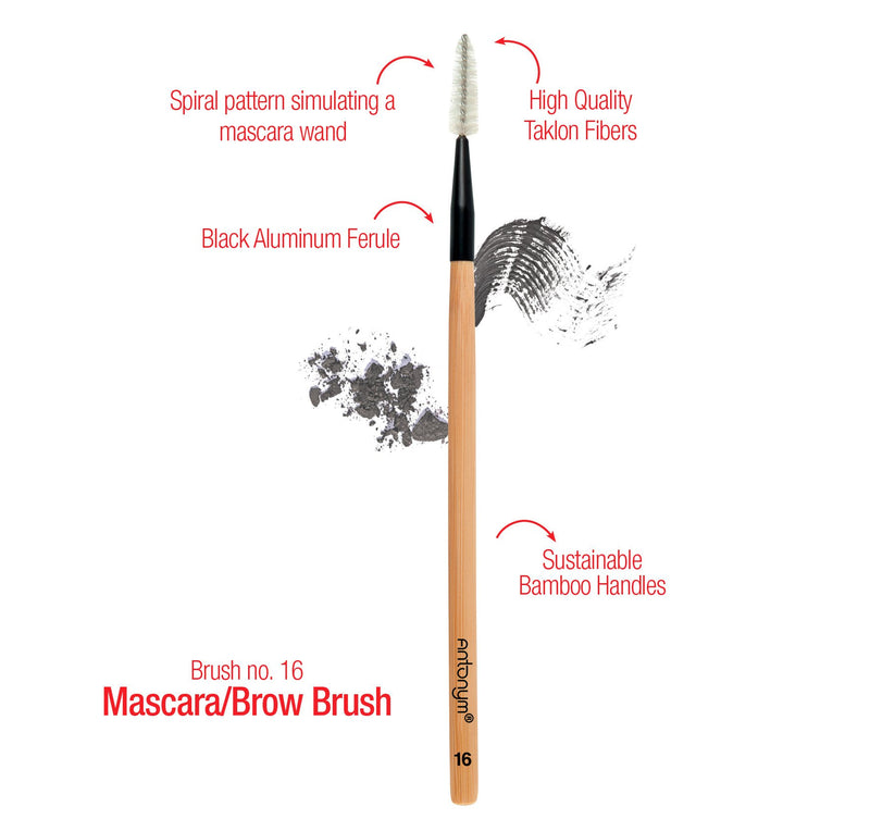 Antonym Cosmetics Vegan Mascara & Brow Brush #16