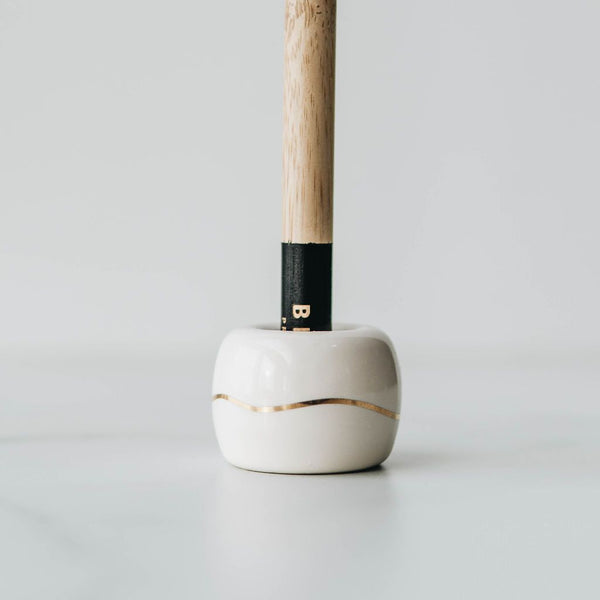 BKIND CERAMIC TOOTHBRUSH HOLDER - BEIGE