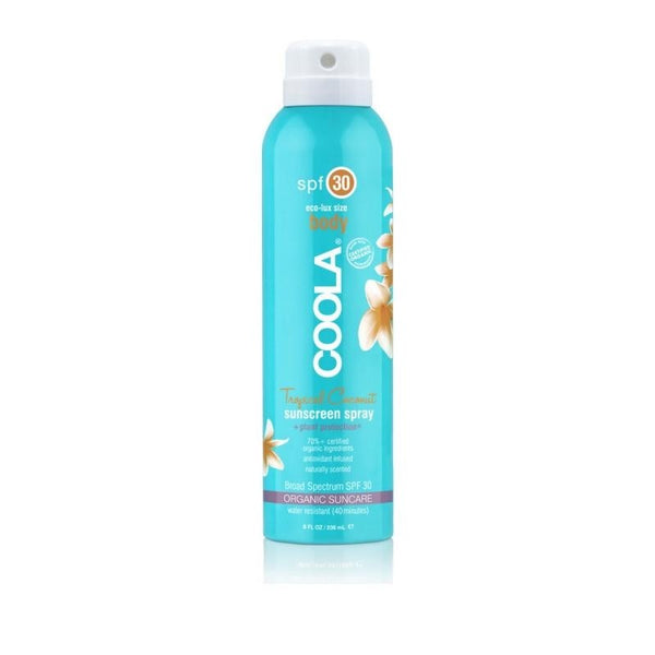 COOLA Organic Eco-Lux Body Sunscreen Spray SPF 30 Tropical Coconut