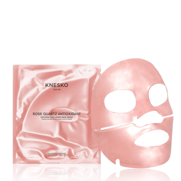 KNESKO SKIN ROSE QUARTZ ANTIOXIDANT COLLAGEN FACE MASK (4 TREATMENTS)