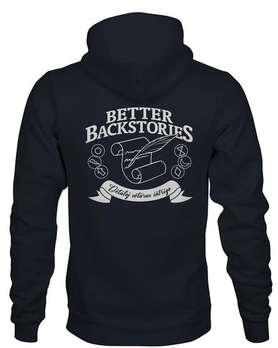 Better Backstories Scroll (White) - Hoodie